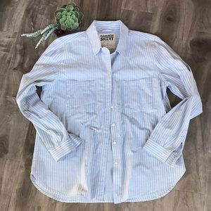 GARAGE Striped Button-up Shirt